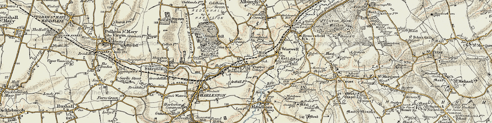 Old map of Abbey Yard in 1901-1902