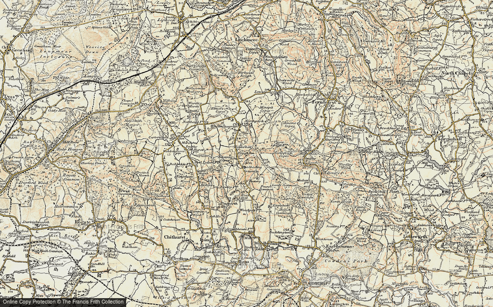 Old Map of Historic Map covering Woolbeding Common in 1897-1900