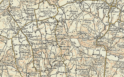 Old map of Woolbeding Common in 1897-1900
