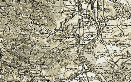 Old map of Balmblair in 1907-1908