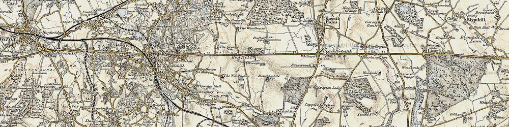 Old map of Woodhouse, The in 1902