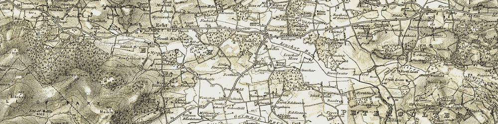 Old map of Westerton in 1908-1909
