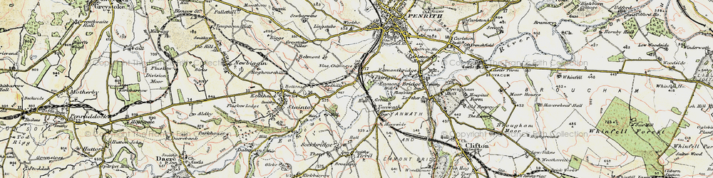 Old map of Yanwath in 1901-1904