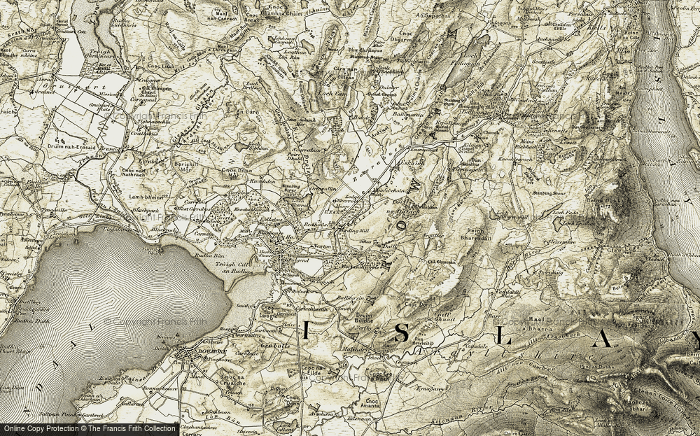 Old Map of Historic Map covering Balole in 1905-1907