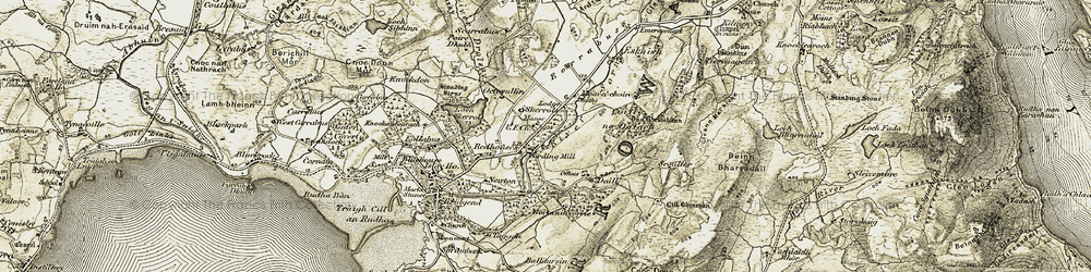 Old map of Am Fasach in 1905-1907