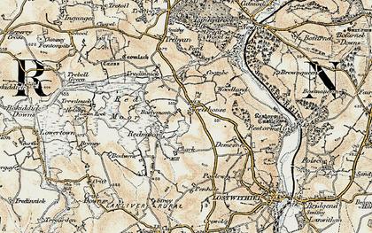Old map of Redmoor in 1900
