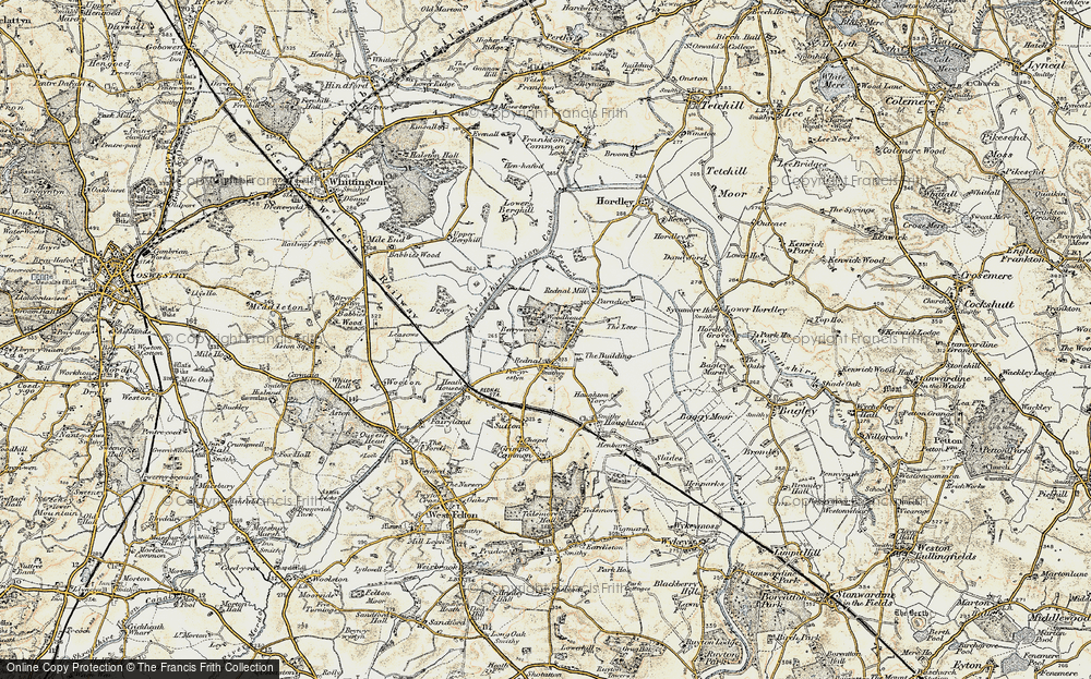 Old Map of Historic Map covering Woodhouse in 1902