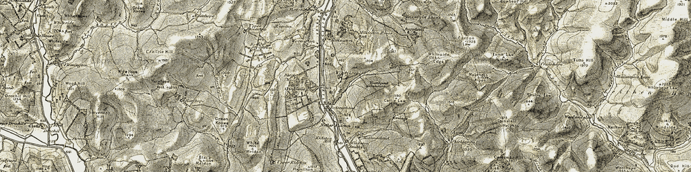 Old map of Windylaws in 1903-1904