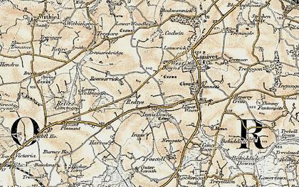 Old map of Redtye in 1900
