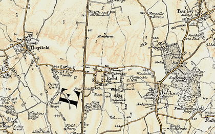 Old map of Reed in 1898-1901