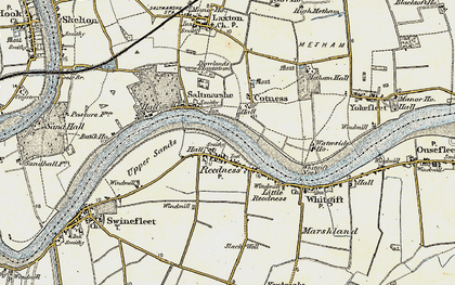 Old map of Whitgift Ness in 1903