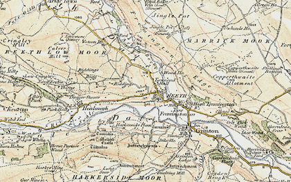 Old map of Swaledale in 1903-1904