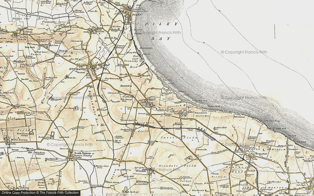 Old Map of Reighton, 1903-1904 in 1903-1904