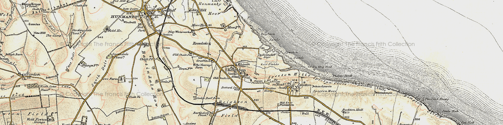 Old map of Reighton in 1903-1904
