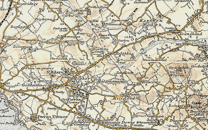 Old map of Relubbus in 1900