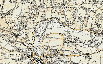 Old map of Remenham in 1897-1909