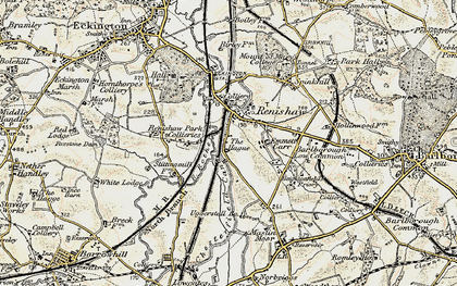 Old map of Renishaw in 1902-1903