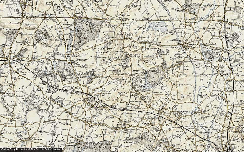 Old Map of Historic Map covering Wood Ho, The in 1902