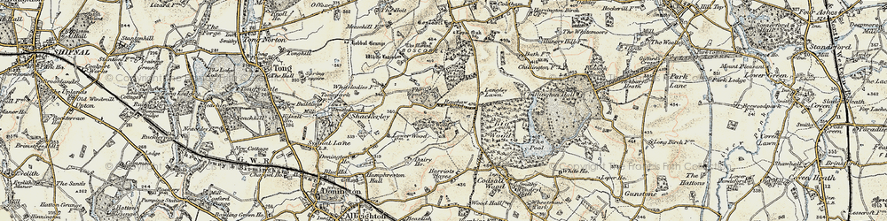 Old map of Wood Ho, The in 1902