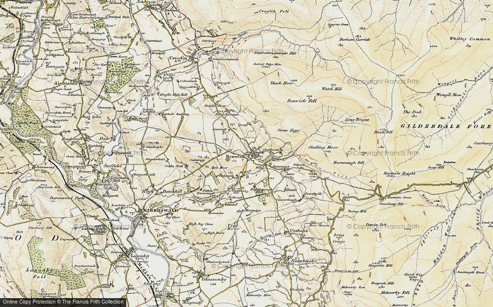 Old Map of Historic Map covering Lincowell in 1901-1904