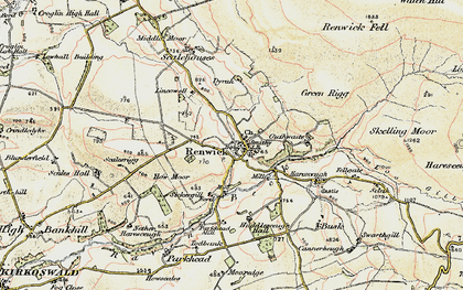 Old map of Lincowell in 1901-1904