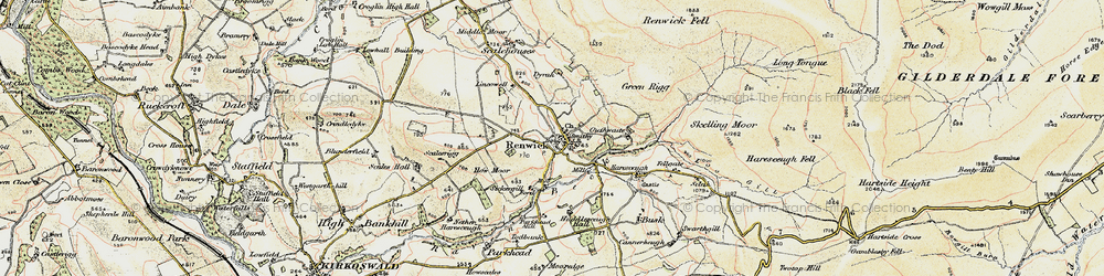 Old map of Renwick in 1901-1904