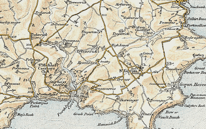 Old map of Rescassa in 1900