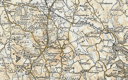 Old map of Rescorla in 1900