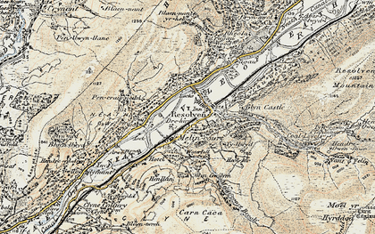 Old map of Resolven in 1900-1901