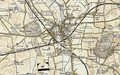 Old map of Retford in 1902-1903