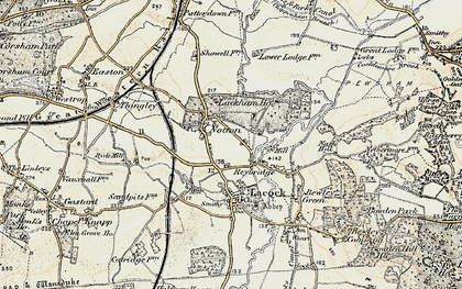 Old map of Reybridge in 1899