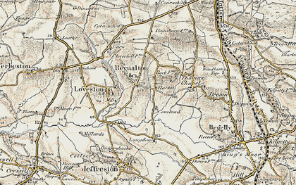 Old map of Langdon in 1901
