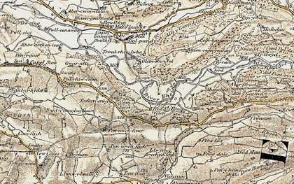 Old map of Rheidol in 1901-1903