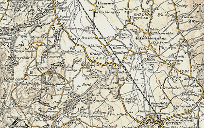Old map of Bachymbyd Fawr in 1902-1903