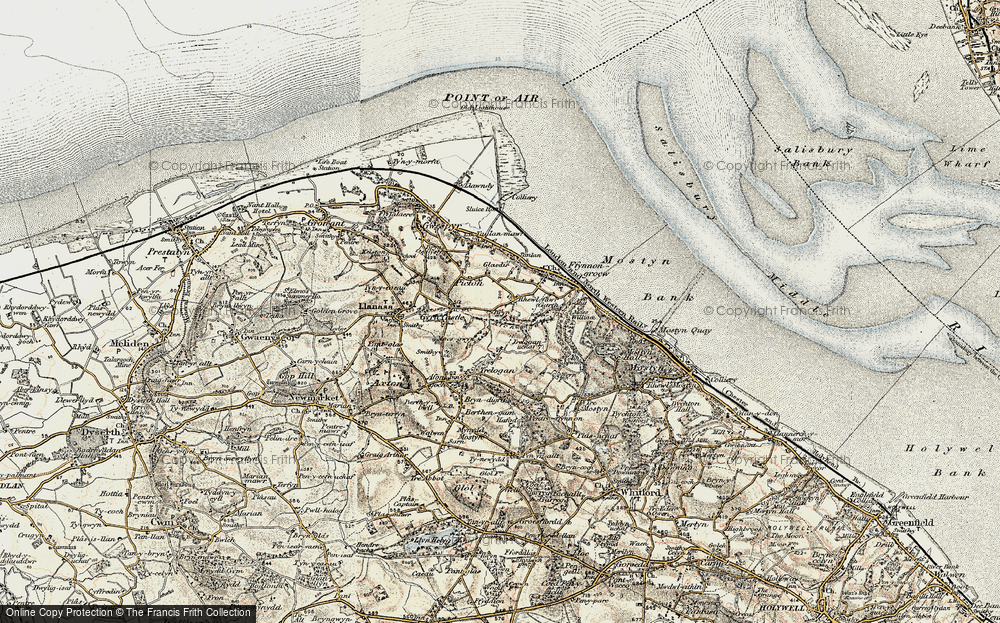 Old Map of Historic Map covering Afon y Garth in 1902-1903