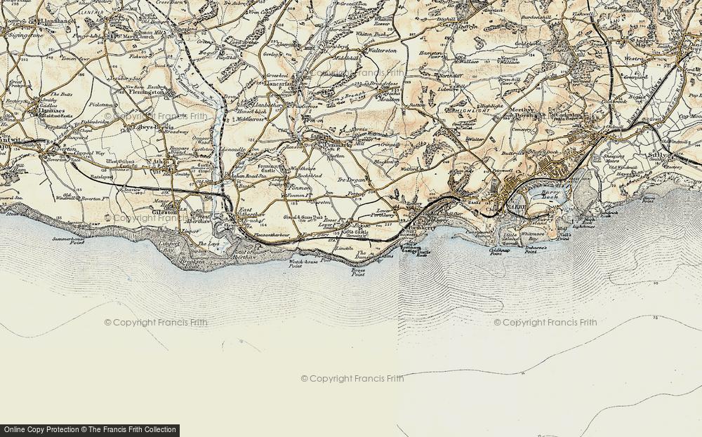 Old Map of Rhoose, 1899-1900 in 1899-1900