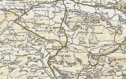 Old map of Allt Tair Ffynnon in 1902-1903