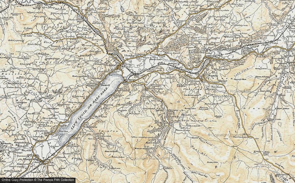 Old Map of Historic Map covering Alltrugog in 1902-1903