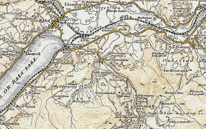 Old map of Alltrugog in 1902-1903
