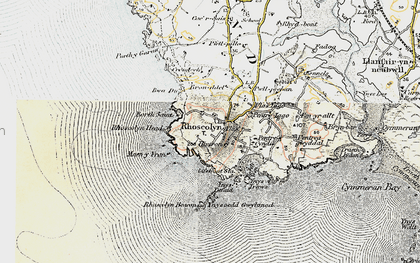 Old map of Rhoscolyn in 1903-1910