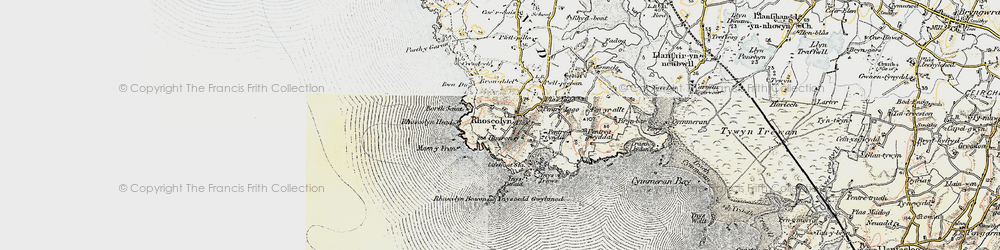 Old map of Ynys Traws in 1903-1910
