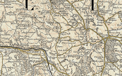 Old map of Rhosesmor in 1902-1903