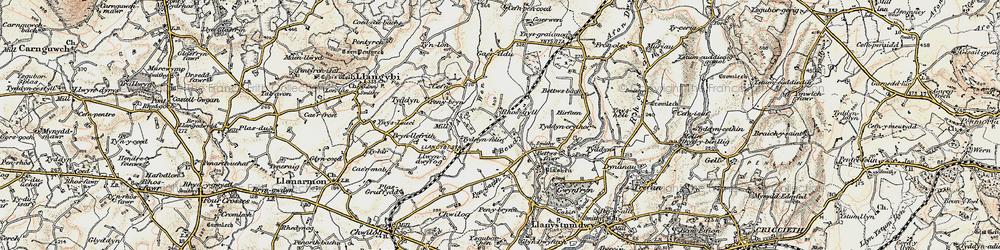 Old map of Afon Wen in 1903