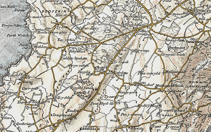 Old map of Afon Daron in 1903