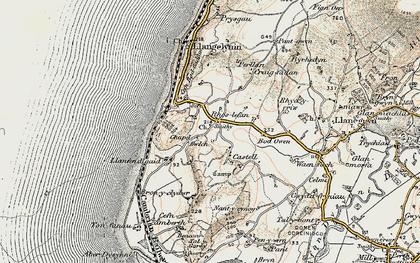 Old map of Rhoslefain in 1902-1903