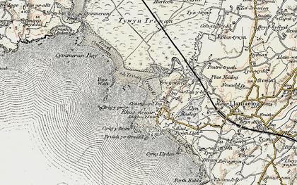 Old map of Ynys Feirig in 1903-1910