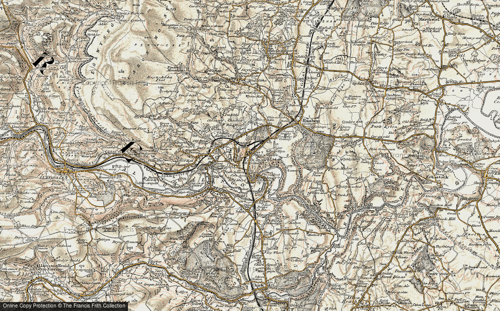 Old Map of Rhosymedre, 1902-1903 in 1902-1903