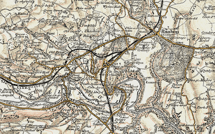 Old map of Rhosymedre in 1902-1903
