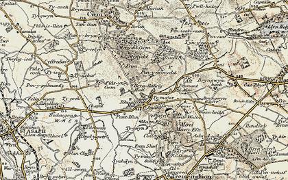 Old map of Rhuallt in 1902-1903