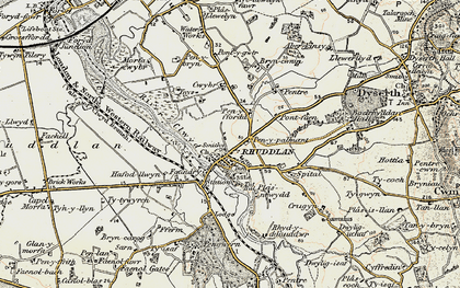 Old map of Ynys in 1902-1903